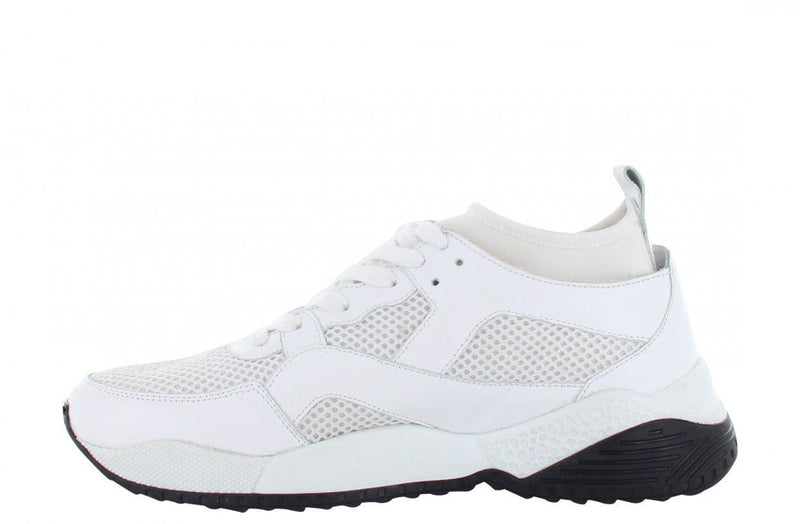 Isabel 3-a white leather/mesh combination - white sole