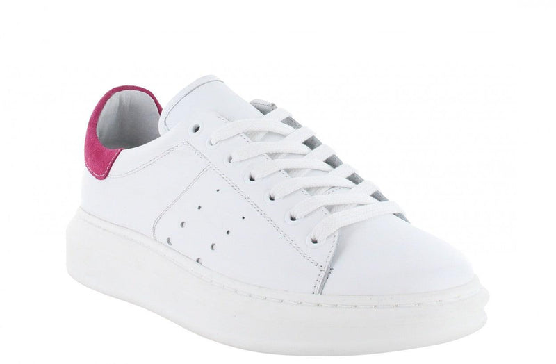 Jaimy 1-a white leather/fuchsia - white sole