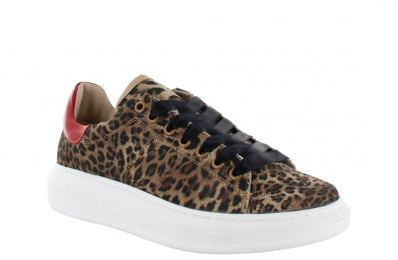 Jaimy 1-j leopard print texile - white sole