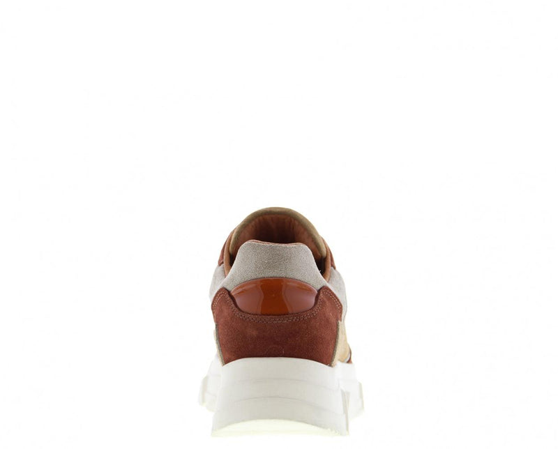 Kady fat 10-az beige/brick/off white combi sneaker - off white sole