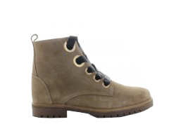 Bee 121-j taupe suede ring boot - gum sole