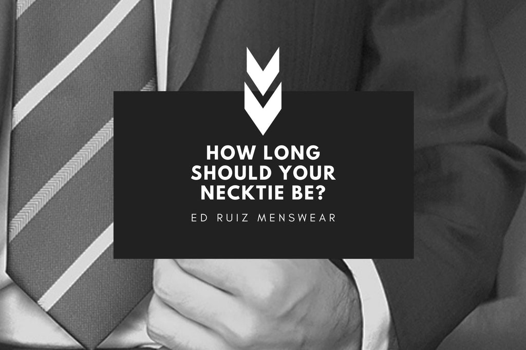 How long should a necktie be?