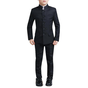Boys Black Tunic 2-piece Suit - Fifth Avenue Kids, subsidiary of Frockalicious