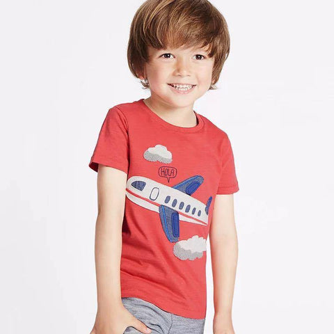 Boys Short Sleeves Aeroplane T-shirt - Fifth Avenue Kids, subsidiary of Frockalicious