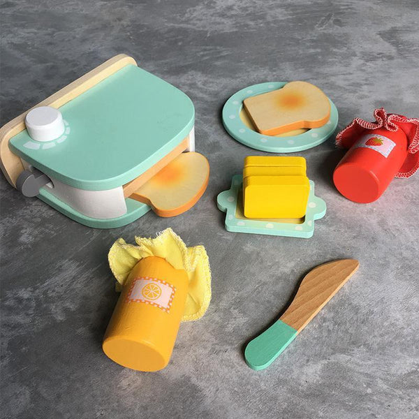 Bread Toaster Wooden Toy Pretend Play