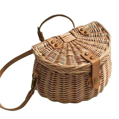 Bucket Wicker Basket Storage Bag Handmade - Fifth Avenue Kids, subsidiary of Frockalicious