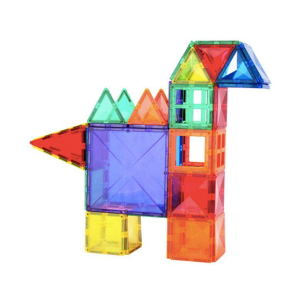 Diamond Magnetic Tiles 100-Piece with 2 Car Bases & Large Squares by Fifth Avenue Kids - Fifth Avenue Kids, subsidiary of Frockalicious