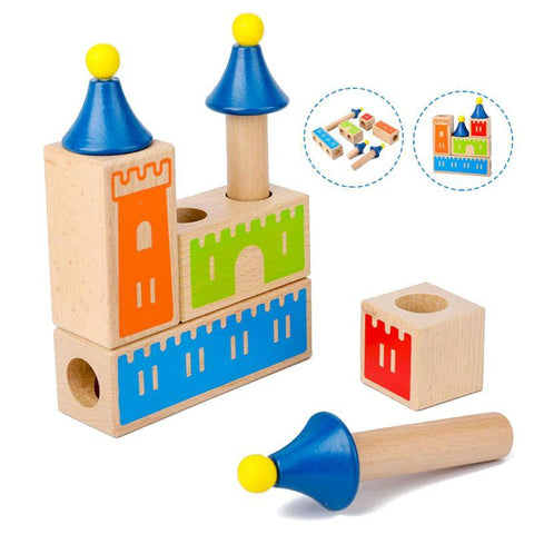 Build a Castle 3D Puzzle Game Wooden Blocks - Fifth Avenue Kids, subsidiary of Frockalicious