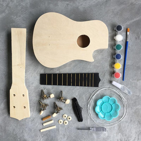 Ukulele DIY Assembly & Painting Activity Kit - Fifth Avenue Kids, subsidiary of Frockalicious