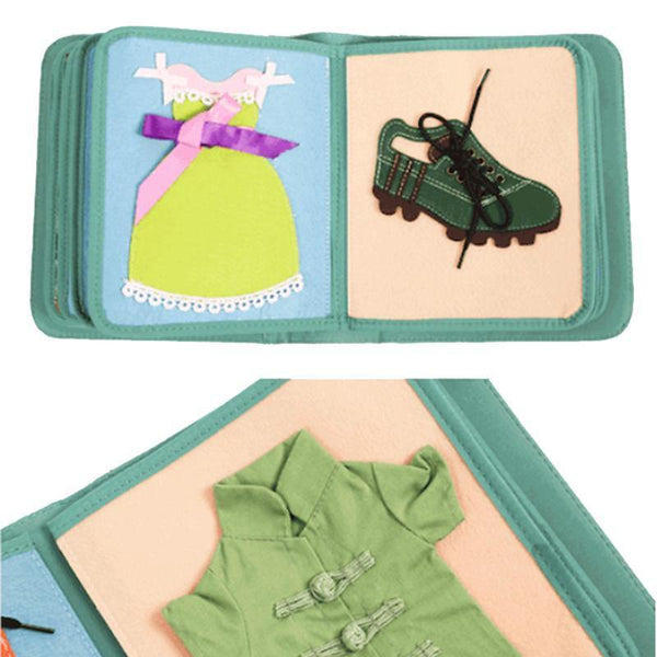 Elf Culture Montessori My First Book Book 2 - Dressing Frames - Fifth Avenue Kids, subsidiary of Frockalicious