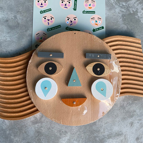 Face & Emotions Wooden Toy