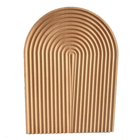 Curved Arch Bread Wooden Board Tray - Fifth Avenue Kids, subsidiary of Frockalicious