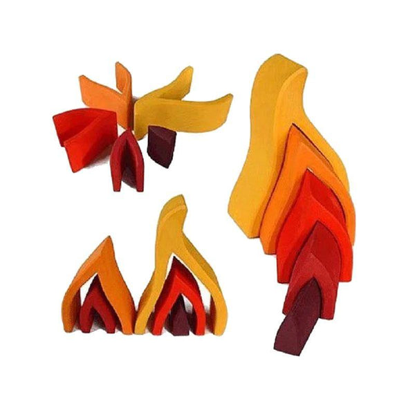 Fire Flames Arch Stacker Wooden Nesting Montessori Waldorf Toy - Fifth Avenue Kids, subsidiary of Frockalicious
