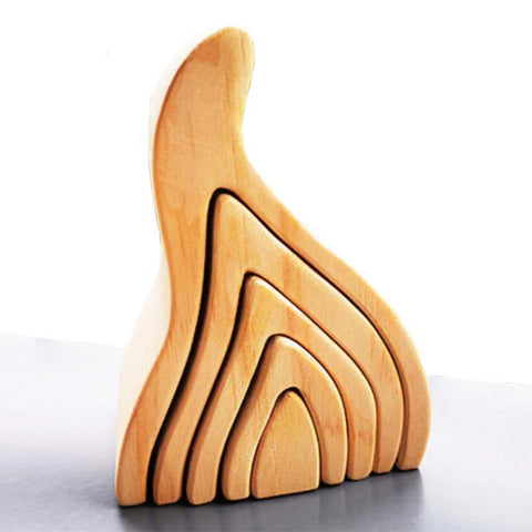 Fire Natural Arch Stacker Montessori Wooden Toy - Fifth Avenue Kids, subsidiary of Frockalicious
