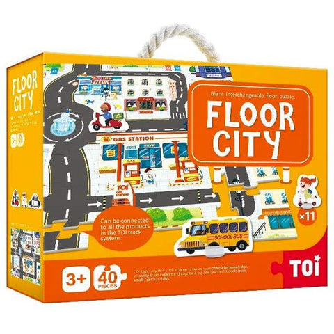 Giant Floor Jigsaw Puzzle: Floor City by TOI - Fifth Avenue Kids, subsidiary of Frockalicious