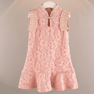 Girls Ruffled Lace Cheongsam Qipao - Fifth Avenue Kids, subsidiary of Frockalicious