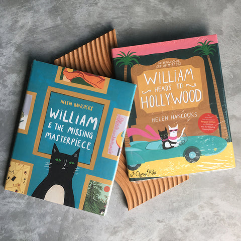 William Heads to Hollywood + William & the Masterpiece Bundle Set by Helen Hancocks (Hardcover)