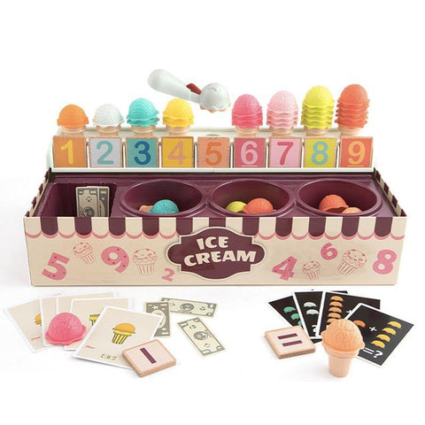 Ice-cream Counting Scoops Stacking Learning Maths Pretend Play Toy