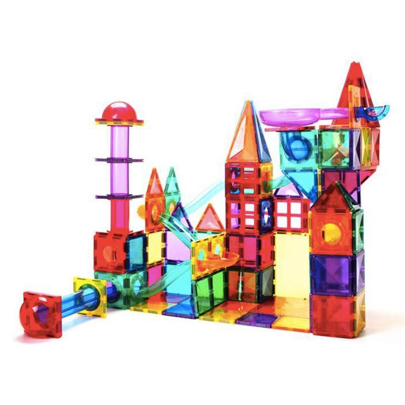 Magnetic Ball Run 150-pc Magnetic Tiles by Fifth Avenue Kids