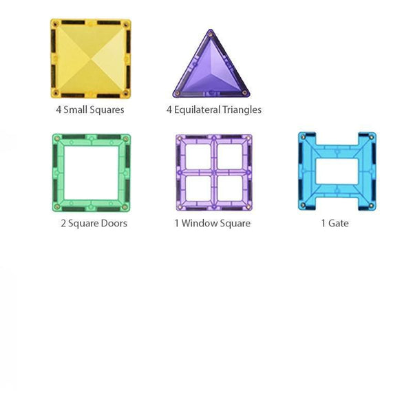 Diamond Magnetic Tiles 12-pc Sample Pack Gift Idea by Fifth Avenue Kids - Fifth Avenue Kids, subsidiary of Frockalicious