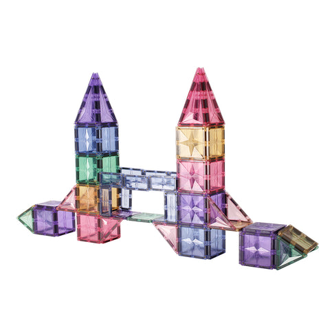 Magtelier 120pcs Pastel Star Diamond Magnetic Tiles Toy