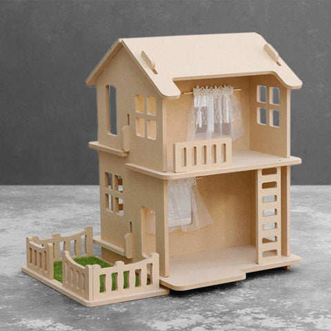 Modular Natural Modern Dollhouse Bungalow - Fifth Avenue Kids, subsidiary of Frockalicious