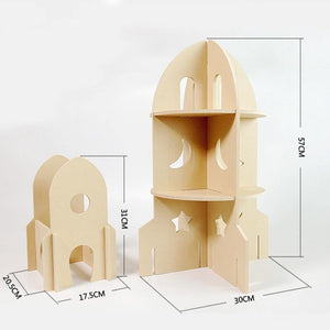 Modular Natural Rocket Space World Playhouse Dollhouse