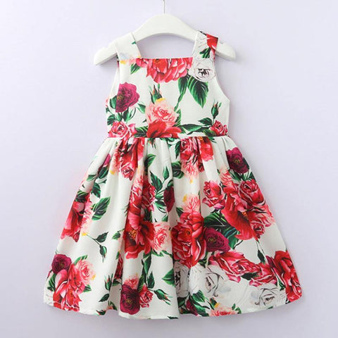 Mum & Girl Peony Rose Skater Dress