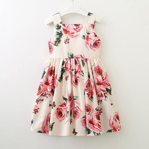 Mum & Girl Rose Butterfly Skater Dress