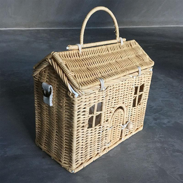 La Maison Storage Wicker Basket Straw Tote Bag - Fifth Avenue Kids, subsidiary of Frockalicious