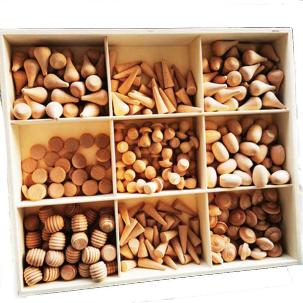 324 Piece Natural Loose Parts Set with Tinker Tray