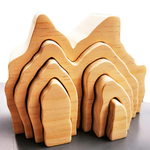 Mountain Cave Grotto Natural Arch Stacker Montessori Wooden Toy - Fifth Avenue Kids, subsidiary of Frockalicious