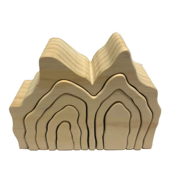 Mountain Cave Grotto Natural Arch Stacker Montessori Wooden Toy
