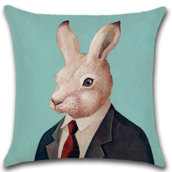 Animals in Suit Cushions Sofa Pillow