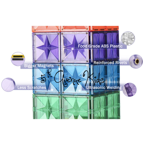 Magtelier Star Diamond Magnetic Tiles 120-pc by Fifth Avenue Kids