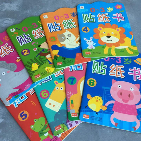 Sticker Book for 0-3 Years Old (Bundle of 8) 贴贴纸贴纸书 - Fifth Avenue Kids, subsidiary of Frockalicious