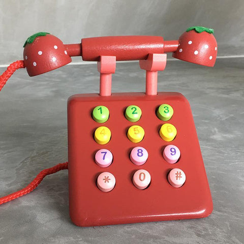 Wooden Telephone Toy - Fifth Avenue Kids, subsidiary of Frockalicious