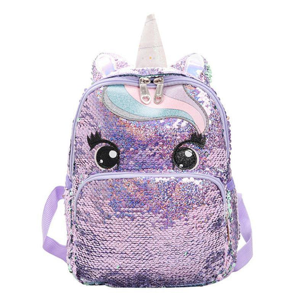 Unicorn Reverse Glitter Sequin Two-Way Backpack