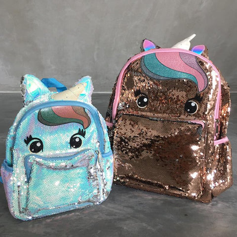 Unicorn Reverse Glitter Sequin Two-Way Backpack - Fifth Avenue Kids, subsidiary of Frockalicious
