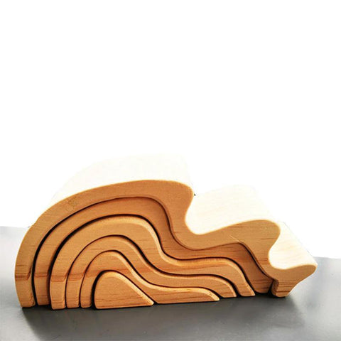 Waves Natural Arch Stacker Montessori Wooden Toy