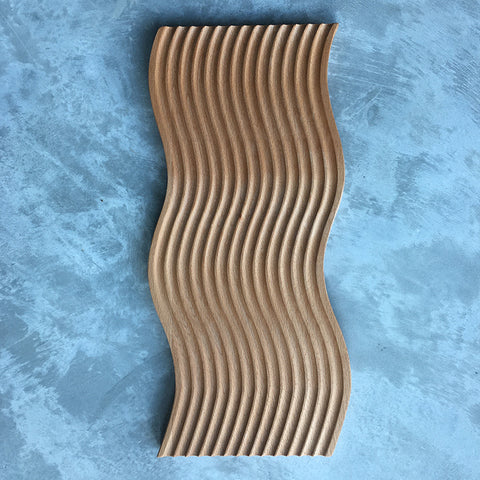 Wavy Bread Cheese Platter Wooden Board Tray