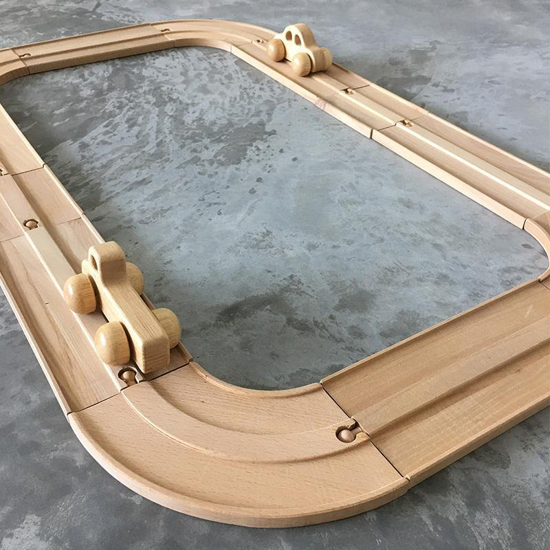 Wooden Car Tracks 2-way Roads - Fifth Avenue Kids, subsidiary of Frockalicious