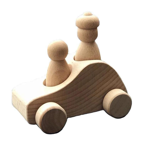 Wooden Convertible Cars with Peg Dolls Toy Set - Fifth Avenue Kids, subsidiary of Frockalicious