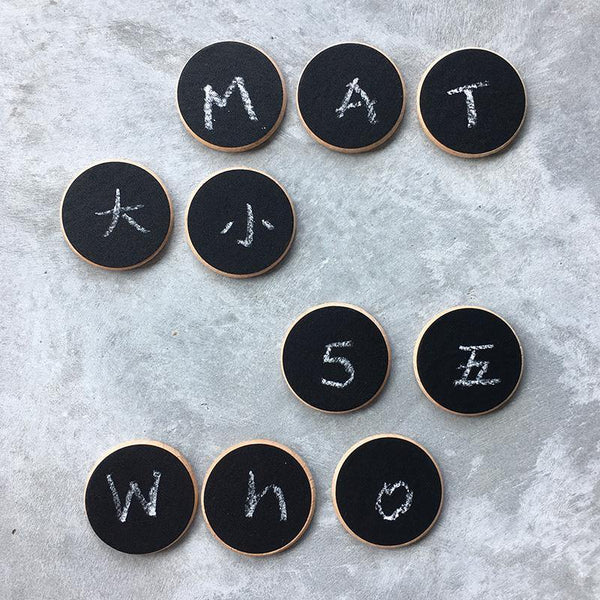 Wooden Chalkboard Coins Disks Montessori Open-Ended Learning Toy - Fifth Avenue Kids, subsidiary of Frockalicious