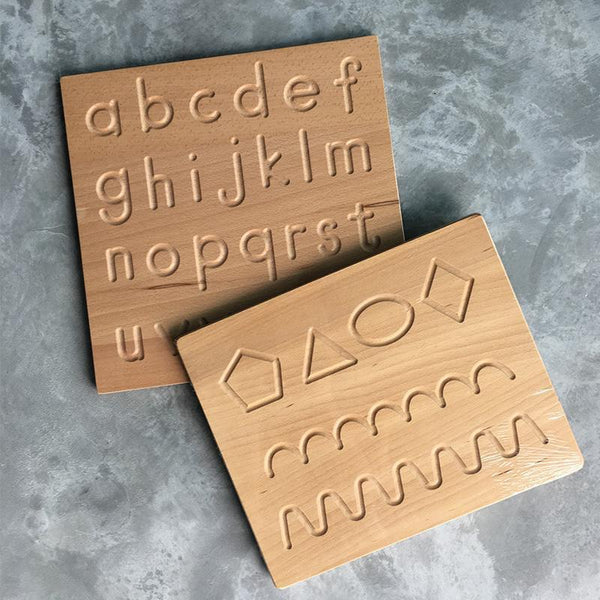 Reversible Double Sided Alphabet A-Z Uppercase Lowercase Wooden Tracing Board - Fifth Avenue Kids, subsidiary of Frockalicious