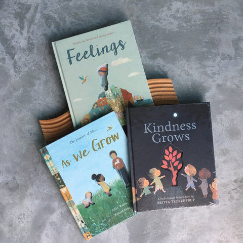 Social Emotional Book Bundle: Feelings, As We Grow by Libby Walden & Kindness Grows by Britta Teckentrup