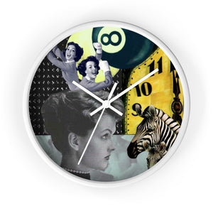 Behind Time Collage Clock (Original Collage Art | Stitchteller)
