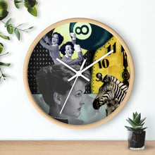Load image into Gallery viewer, Behind Time Collage Clock (Original Collage Art | Stitchteller)