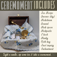 Load image into Gallery viewer, Ceremoment: Wise Words Come (Tea/Incense/Ritual/Oil Set)
