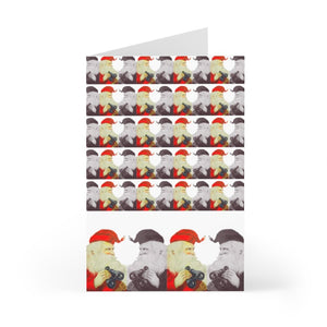 He's Looking For You Christmas Card Pack|  by Stitchteller